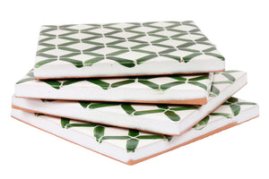 Apulian Green coaster tile