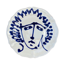 Load image into Gallery viewer, Ceramic scalloped main face plate - blue, Puglia, Italy