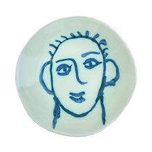 Load image into Gallery viewer, Ceramic Apulian Face Bowl, blue