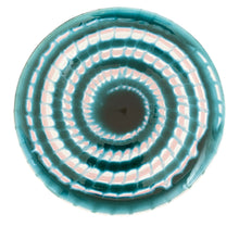 Load image into Gallery viewer, Ceramic cake stand - green and pink, Puglia, Italy