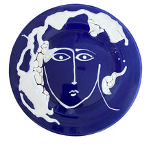 Load image into Gallery viewer, COMING SOON: Ceramic large serving face plate - blue, Puglia, Italy - BACK IN STOCK EARLY DECEMBER