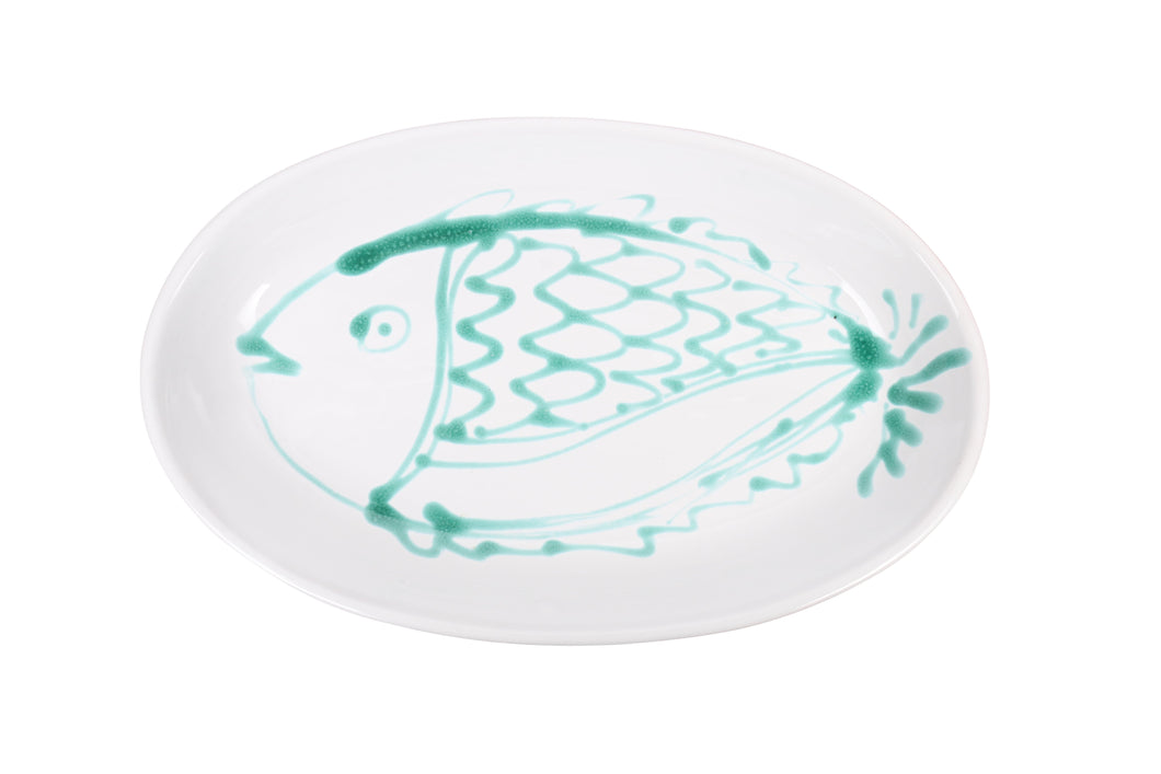 Apulian Large Fish Aperitivo Plate, Green
