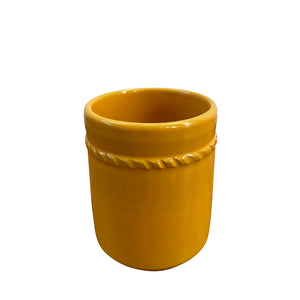 Ceramic cup - yellow, Puglia, Italy