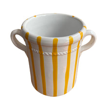 Load image into Gallery viewer, Ceramic wine cooler - yellow stripe, Puglia, Italy