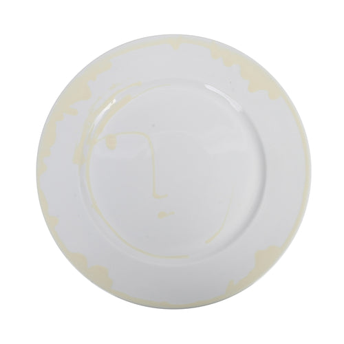 Apulian Large Face Plate, White 31.5cm