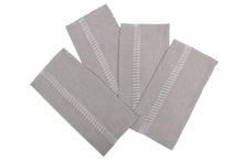 Load image into Gallery viewer, Apulian linen napkins QTY 4 grey