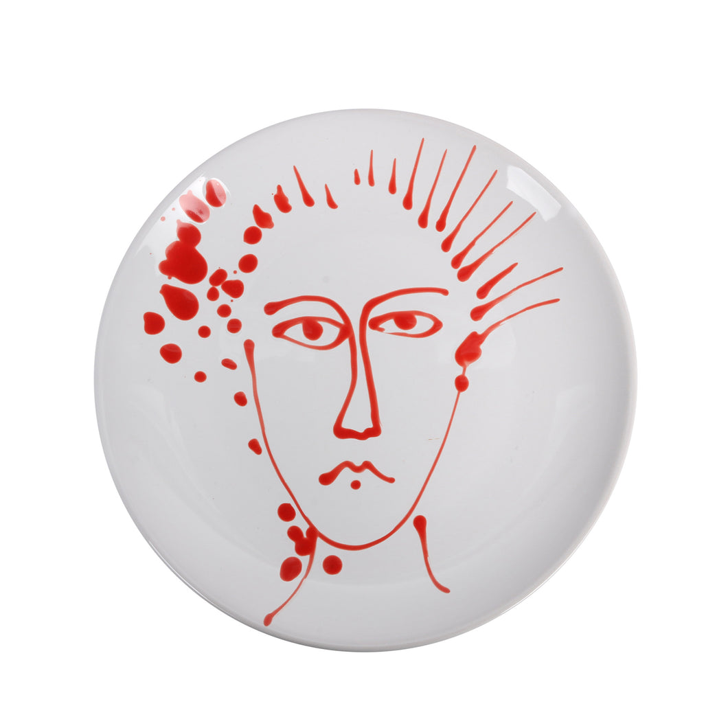 Apulian Face Plate, Red 25.5cm
