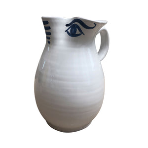 Ceramic Apulian Eyes Water Jug, 2LT
