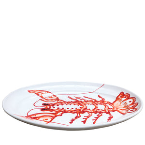Apulian Large Oval Serving Platter, Lobster