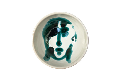 Apulian Face Dipping Bowl, Green