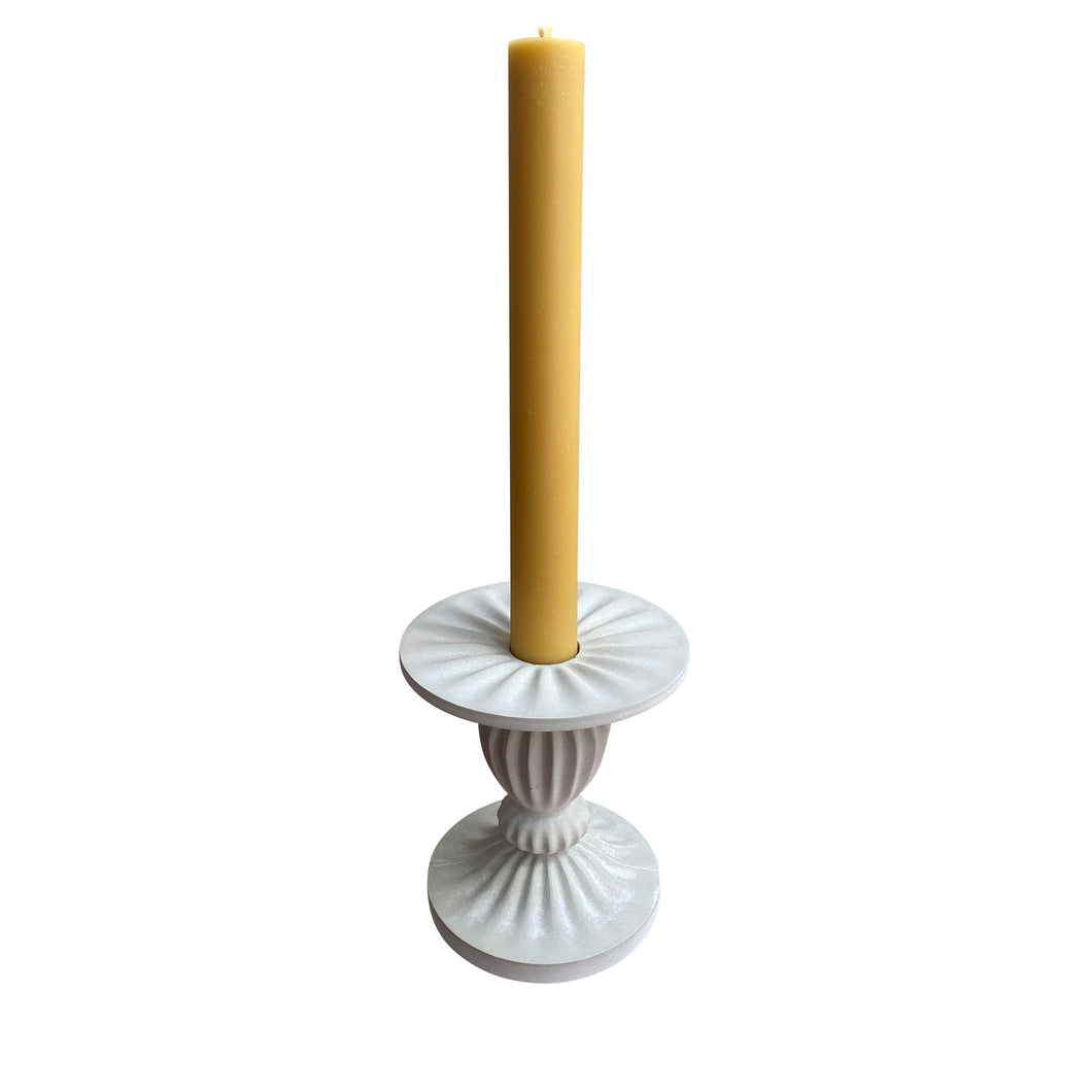 Roman banquet candle, TONY ASSNESS X ALEX AND TRAHANAS, 100% Beeswax candle, stone stand