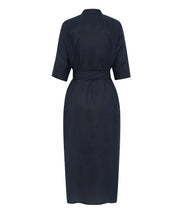 Load image into Gallery viewer, ALEX AND TRAHANAS X MASSERIA MOROSETA, La Piscina Dress - navy