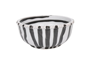 Apulian Small dipping bowl, white, black