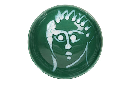 Apulian dessert bowl, green and white