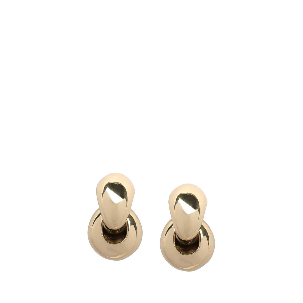 LOUISE OLSEN X ALEX AND TRAHANAS Chifferi double-link hoop earrings, gold-tone