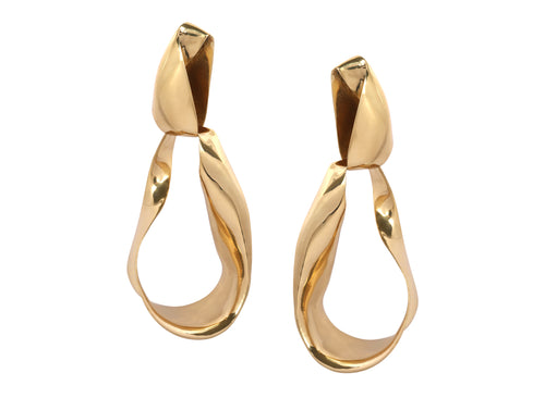 PRE-ORDER. LOUISE OLSEN X ALEX AND TRAHANAS Gold-Tone, Clip-on, Olive Leaf Earrings