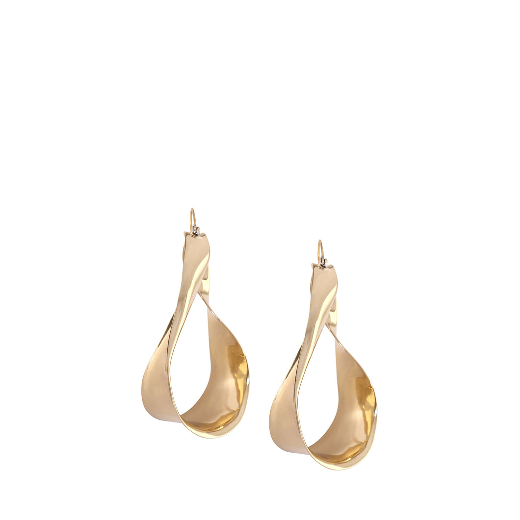 LOUISE OLSEN X ALEX AND TRAHANAS Gold-tone medium olive leaf earrings