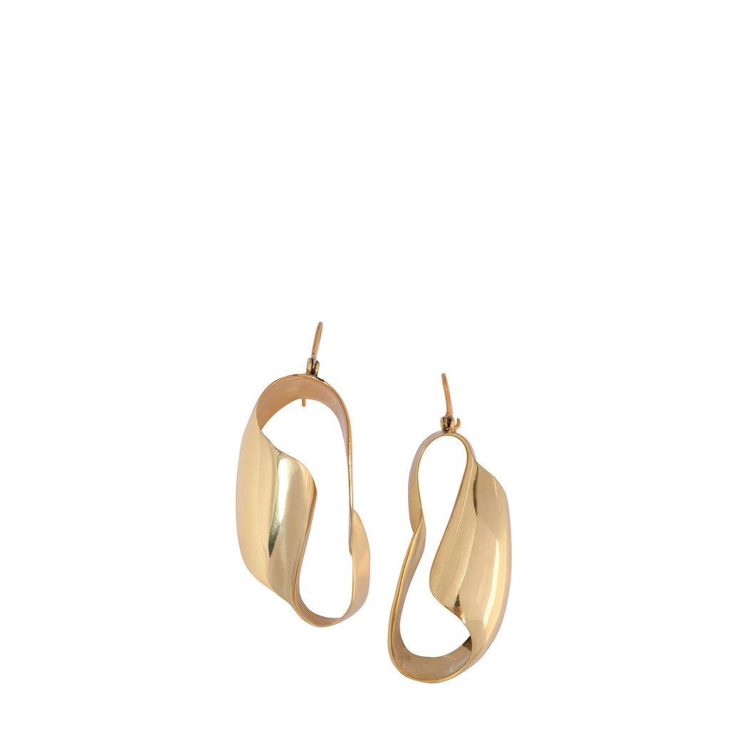 LOUISE OLSEN X ALEX AND TRAHANAS Gold-Tone Small Olive Leaf Earrings