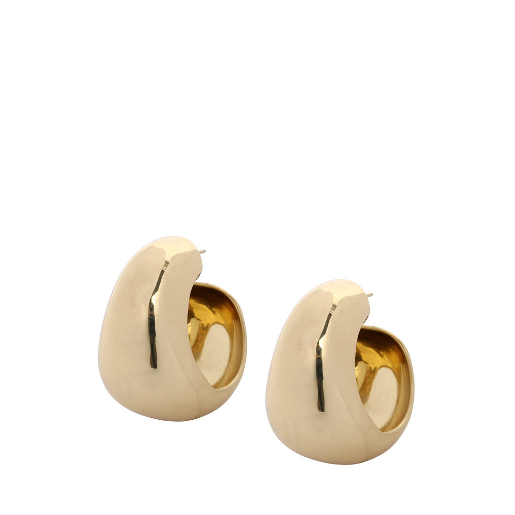 LOUISE OLSEN X ALEX AND TRAHANAS Gold-Tone Chifferi hoop earrings - large
