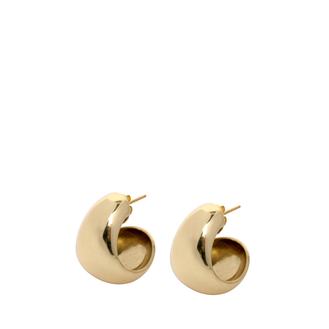 LOUISE OLSEN X ALEX AND TRAHANAS Gold-Tone Chifferi hoop earrings - small