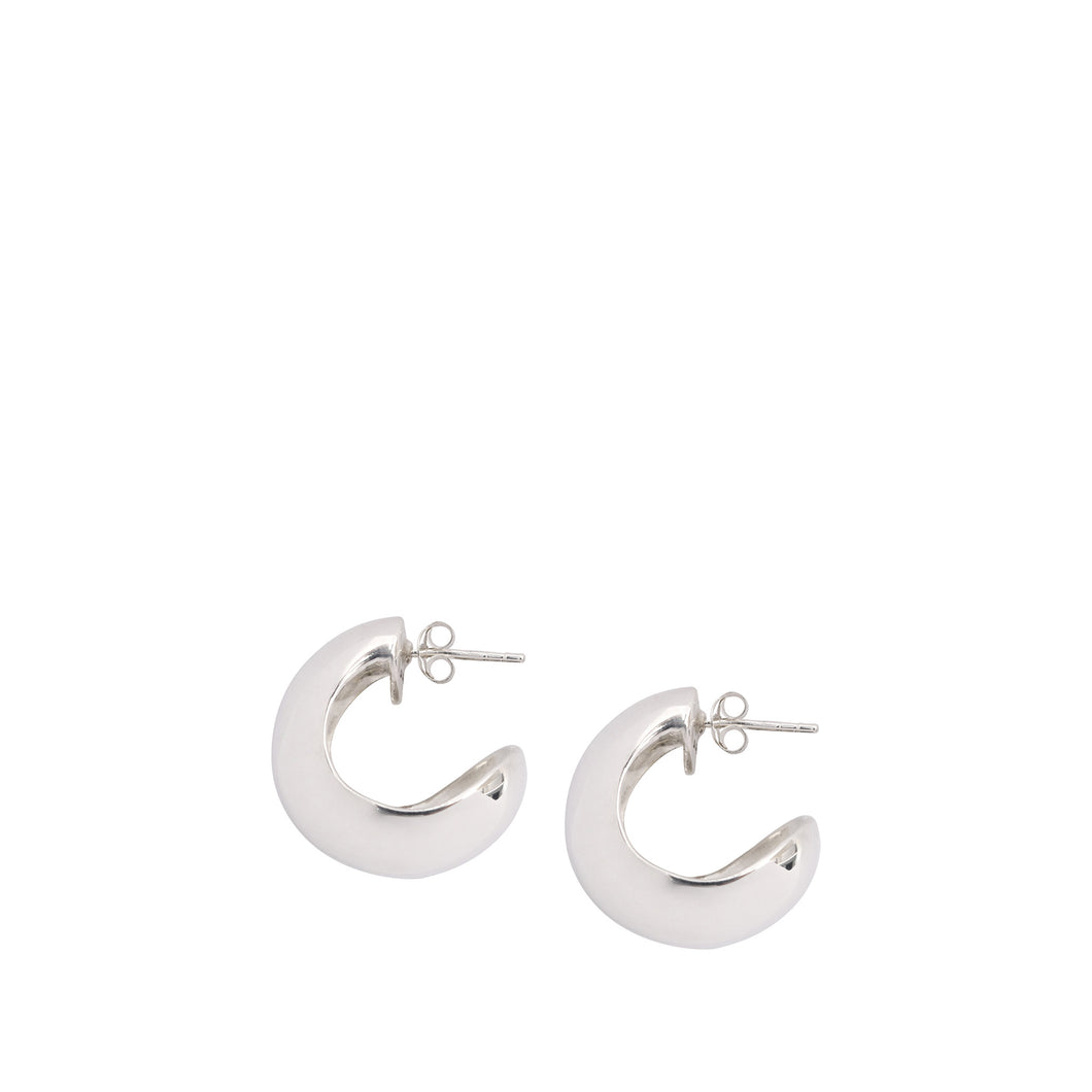 LOUISE OLSEN X ALEX AND TRAHANAS Silver Chifferi hoop earrings - small