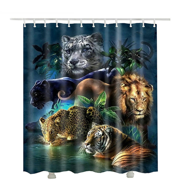 Big Cat Collage Shower Curtain