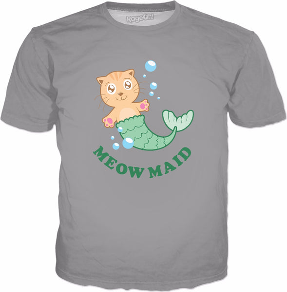 MeowMaid T-Shirt - Funny Mermaid Cat Joke