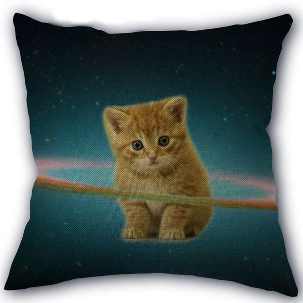 Saturn Kitty Pillow