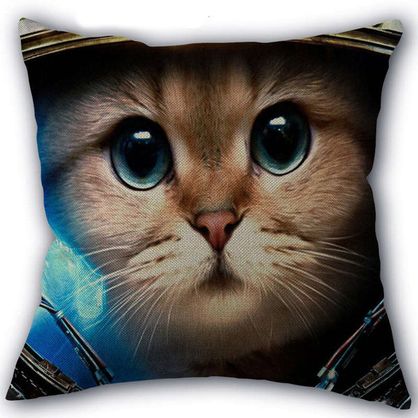 Space Cool Cat Pillow Cover