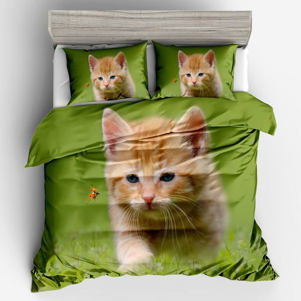 Kitty Stalking Bedding Set
