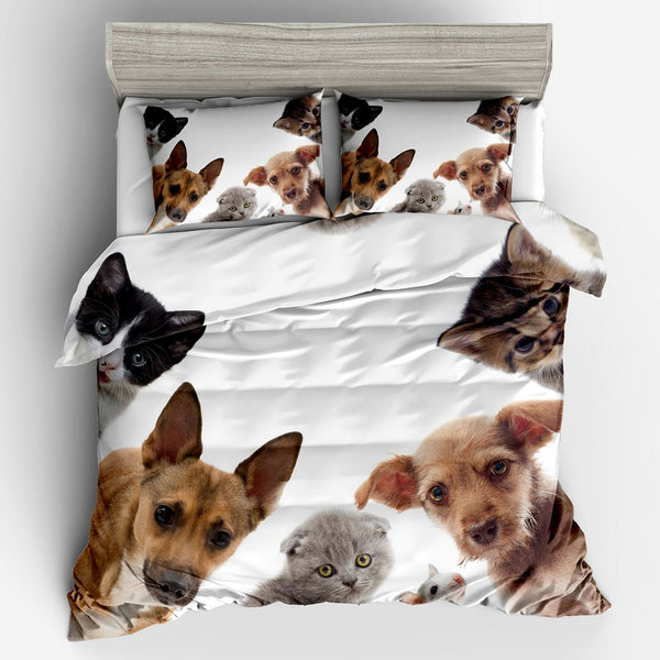Cats and Dogs Bedding Set