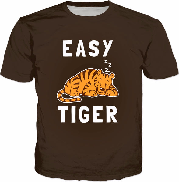 Easy Tiger T-Shirt - Cute Sleeping Big Cats Pun