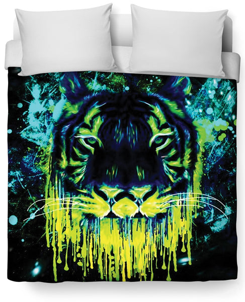 Tiger Drippy Duvet Cover