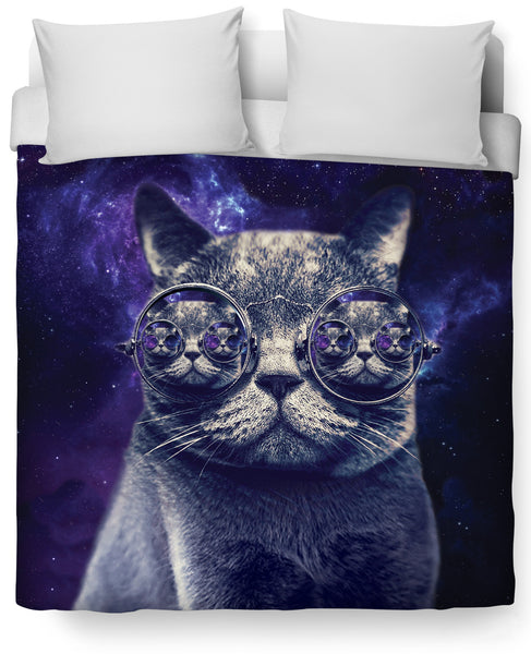 Hipster Cat Duvet Cover