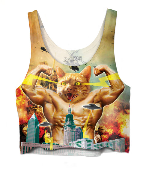 Godzilla Cat Crop Top