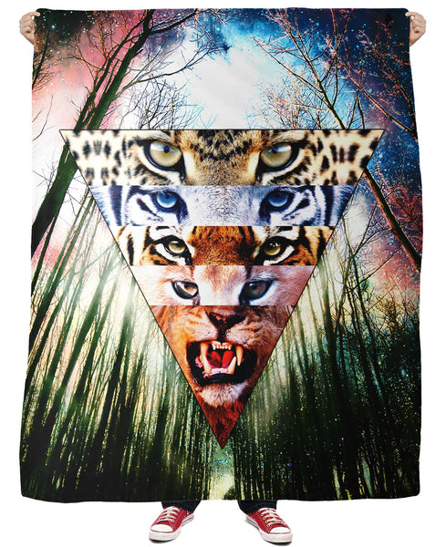 Wild Cats Fleece Blanket