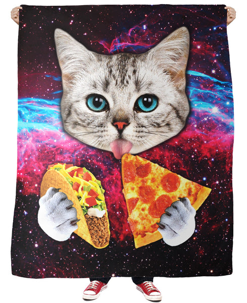 Taco Cat Fleece Blanket