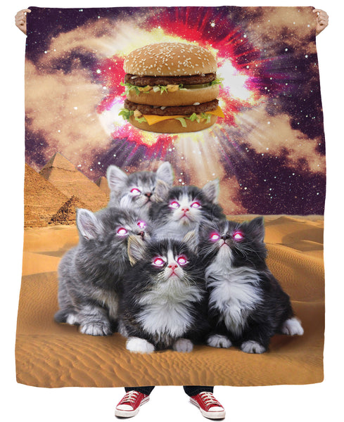 Worship the Burger Fleece Blanket