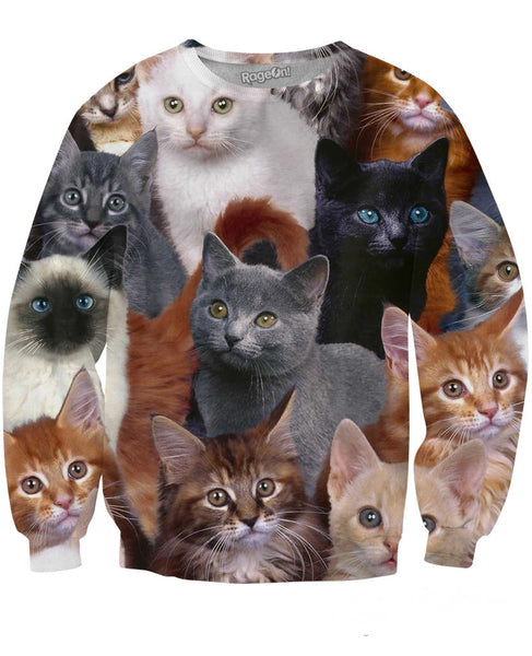Cats Collage Sweatshirt