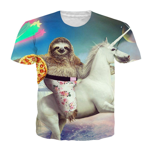 Sloth on a Unicorn T-shirt