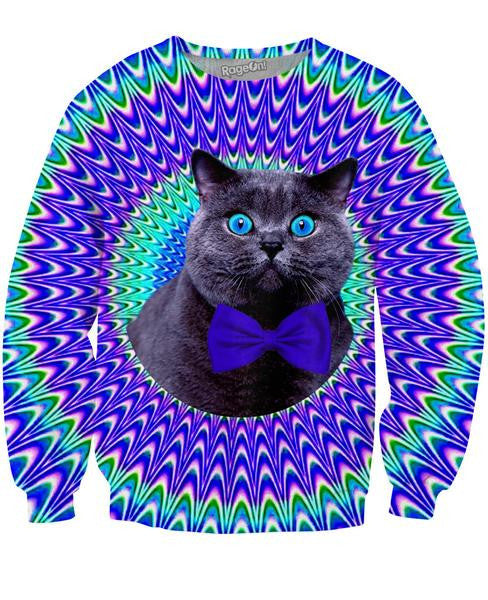 Crazy Cat Crewneck Sweatshirt