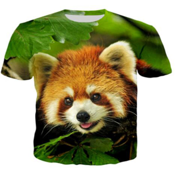 Big Face Red Panda T-Shirt