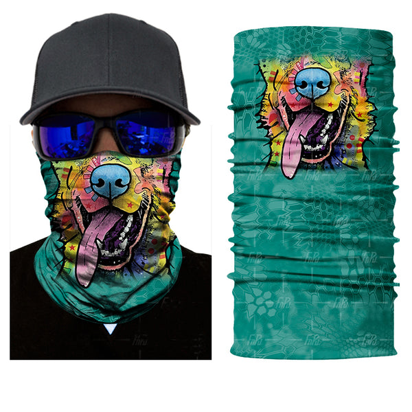 Abstract Dog Face Neck Gaiter / Bandanna