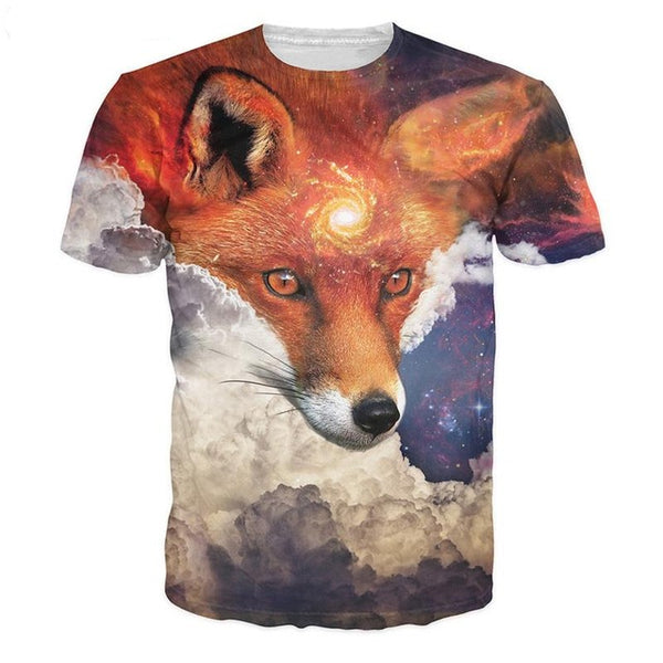 Fox Hold Galaxy T-Shirt