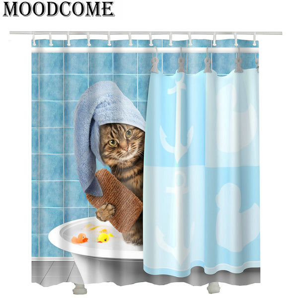 Do Not Disturb the Kitty Shower Curtain