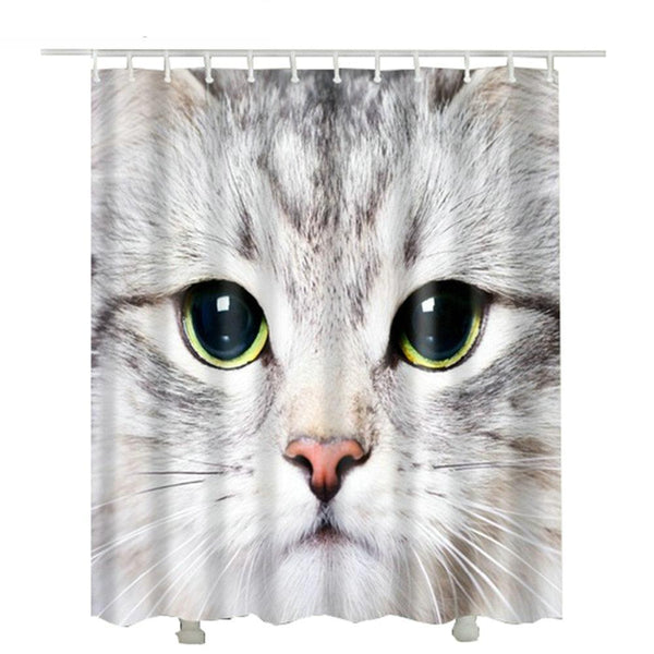 Big Kitty Face Shower Curtain