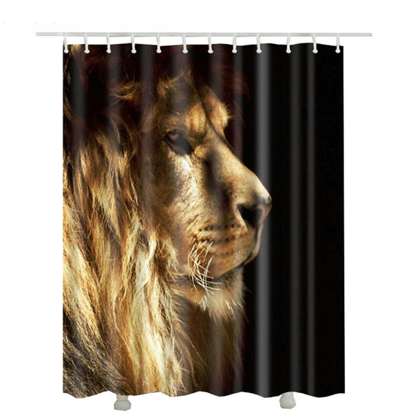 Dramatic Lion Shower Curtain