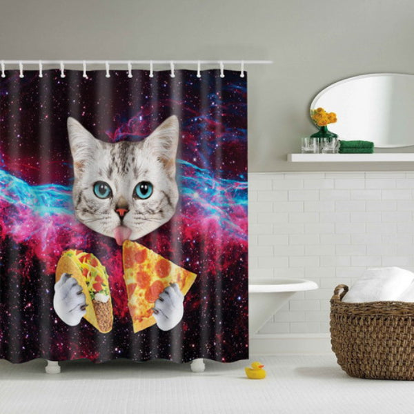 Big Decisions Kitty Shower Curtain