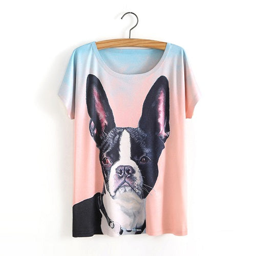 Bat Dog Ladies T-Shirt