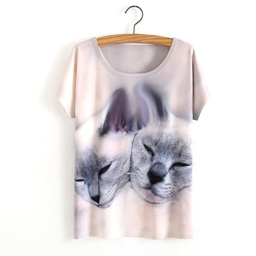Kitty Twins Ladies T-Shirt